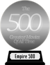 Empire's The 500 Greatest Movies of All Time (silver) awarded at 18 January 2020