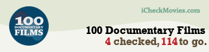 HyperWeather's iCheckMovies.com 100 Documentary Films widget