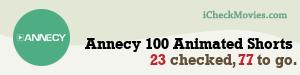 HyperWeather's iCheckMovies.com Annecy 100 Animated Shorts widget