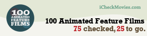 ljg765's iCheckMovies.com 100 Animated Feature Films widget