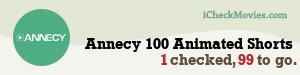 tarfrimmer's iCheckMovies.com Annecy 100 Animated Shorts widget